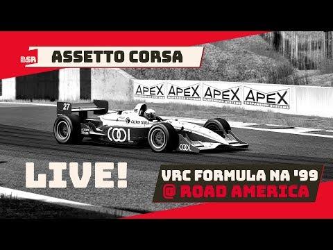 Assetto Corsa – LIVE! – VRC Formula NA '99 – Road America (MOD)