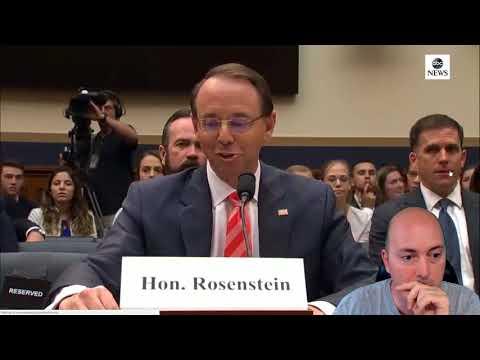 REALIST NEWS – Look at Rosenstein Lie Through His Teeth – Look at his body language