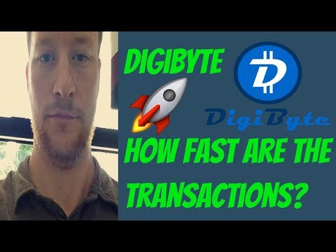 Digibyte | How Fast Are The Transactions? | DGB Test  🚀