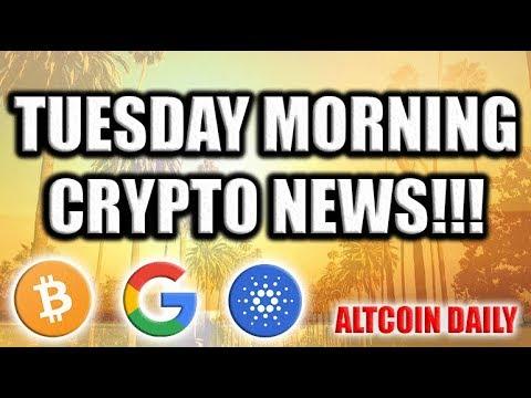 Tuesday Morning Cryptocurrency News! [Google & Cardano Partnership, Coinbase Custody, & EU]