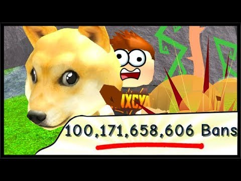100 BILLION BANS & DOGE HAMMER! | Roblox Ban Hammer Simulator