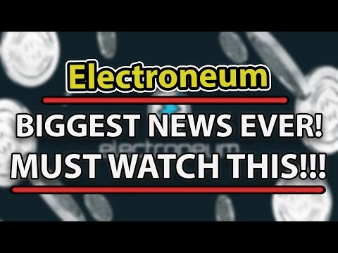 MUST WATCH! ELECTRONEUM BIGGEST NEWS EVER! NEW EXCHANGE LISTING & ASICS MINERS!