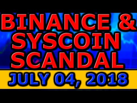 BINANCE & Syscoin SECURITY SCANDAL! WORLD CUP Footballer CRYPTOCURRENCY! Viber MESSENGER COIN!