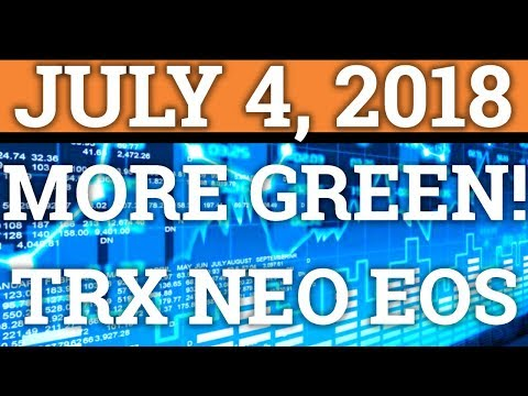 MORE GREEN!? TRON TRX, NEO, EOS NEWS | BITCOIN BTC PRICE PREDICTION + CRYPTOCURRENCY COIN 2018