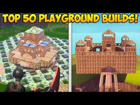 *NEW* PLAYGROUND MODE TOP 50 BEST BUILDS! – Fortnite Funny Fails and WTF Moments! #245