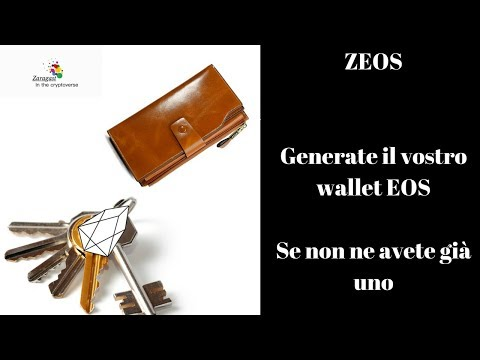 ZEOS | Generate il vostro wallet EOS se non ne avete già uno
