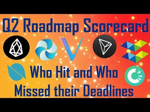 Q2 Roadmap Scorecard: Who Hit and Who Missed their Deadlines? $EOS $TRX $VEN $ELA $HPB $ONT