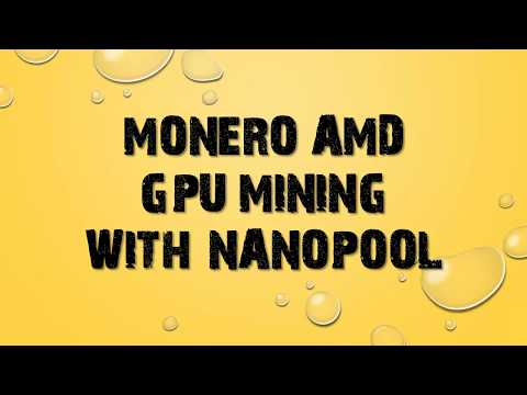Monero XMR mining with Nanopool and AMD GPU [Windows]