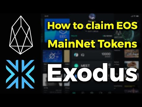 How to claim your EOS MainNet Tokens (Exodus)
