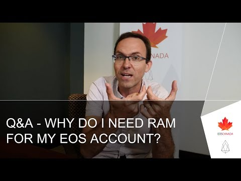 Q&A – Why Do I Need RAM For My EOS Account?