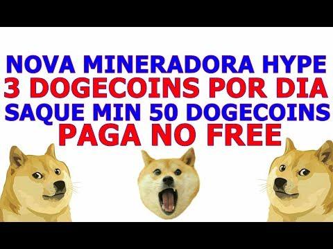 NOVA MINERADORA 3 DOGECOIN POR DIA GRATIS! SAQUE MIN 50 DOGECOINS 2018