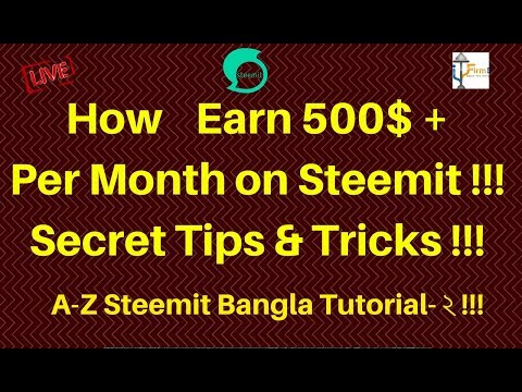 How to Earn 500$+ Fixed Earning From Steemit !! Per Month!!! Live Proof!!!Tricks & Tipsa!!!