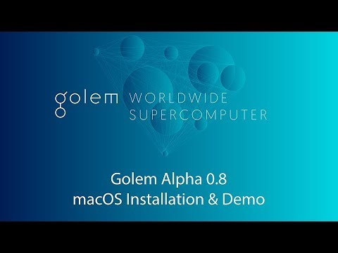 Golem Alpha 0.8 macOS Installation & Demo