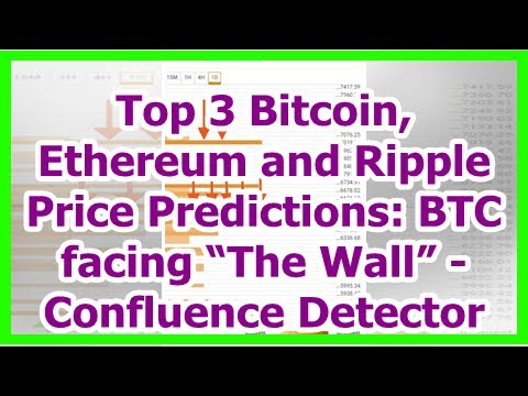 """Today News – Top 3 Bitcoin, Ethereum and Ripple Price Predictions: BTC facing """"The Wall"""" – Confluen"""