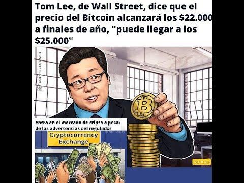 Tom Lee AFIRMA QUE BITCOIN LLEGARA ESTE FIN DE AÑO DE $22 A 25 MIL – SE FORMA HOMBRO CABEZA HOMBRO