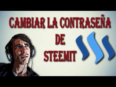 Steemit, como cambiar la contraseña