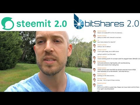 "Steemit 2.0 and Bitshares 2.0 (on EOS) to be completed very soon! Plus EOS stable token ""BitUSD 2.0"""