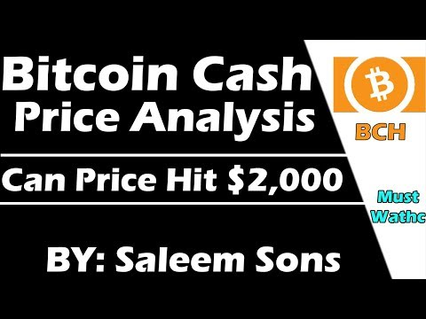 Bitcoin Cash Price Analysis | Can Price hit $2,000 | By Saleem Sons