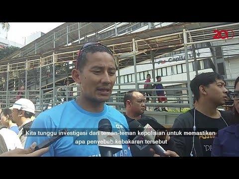 Gedung Kemenhub Terbakar, Sandi: Semoga Tak Ada Korban Lagi