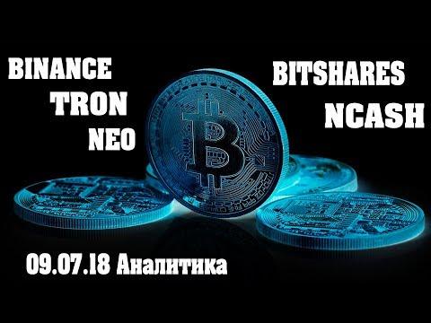 Binance Neo Tron BitShares NCASH Обзор Аналитика Прогноз цены 09 07 18