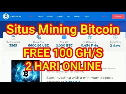 Mining Bitcoin FREE 100 GH/S, BARU 2 HARI ONLINE!!!