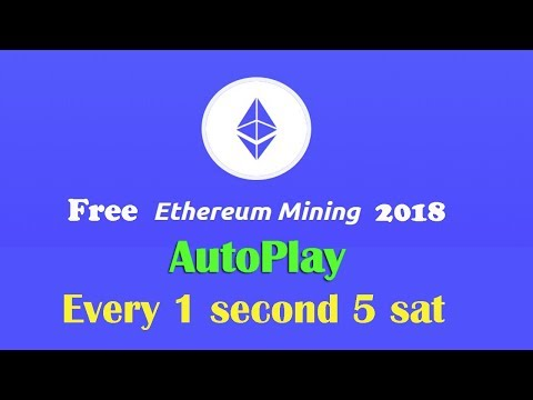 Free Ethereum Coin Every 1 Second 30 ethoshi (Autoplay Mining) 2018