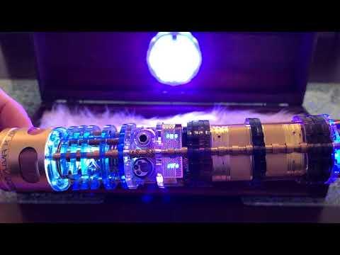 JediArmsDealer's Roman Props Graflex Custom Lightsaber, 2.5 Kyber Crystal Chambers & Dual Speakers