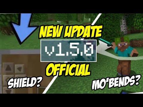 NEW UPDATE !! MCPE v1.5.0 OFFICIAL – ADA SHIELD DAN MO'BENDS ? ? MinecraftPE Indonesia