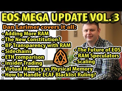 EOS MEGA UPDATE VOL 3: What About RAM and the New Constitution? Dan Larimer covers it all.
