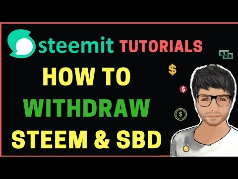 How to Withdraw STEEM and SBD – Steemit Tutorial Hindi #4