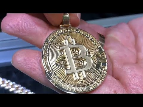 Custom Bitcoin in Gold Crypto Cryptocurrency Blockchain