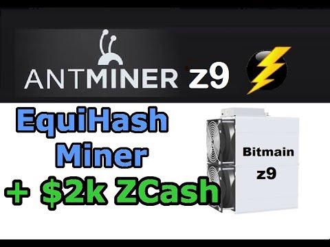 Antminer Z9 Minero ZCash Capaz de Generar 2000 Dolares al Mes
