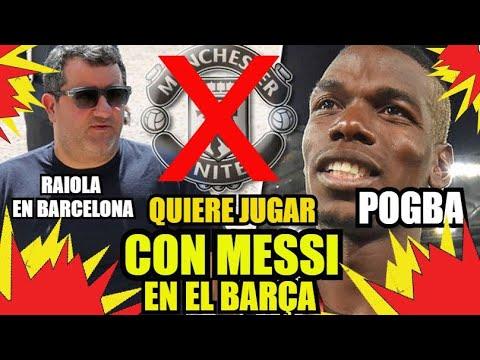 POGBA y EL BARÇA | MINO RAIOLA en BCN | FC BARCELONA NOTICIAS FICHAJES y RUMORES