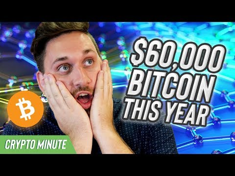 $60,000 Bitcoin this Year…HOW?! Bitcoin CryptoCurrency Prediction