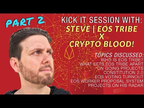 Prt2 | CB x Steve CEO of EOS Tribe: More on EOS Tribe, Crypto Community Being Toxic, Women in Crypto