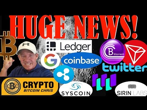 Tron & Twitter partnership?- News to cause $60k BTC!- Google & Ledger! -BitTorrent TRON Job Posting!