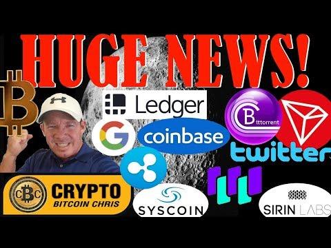 Tron & Twitter partnership?- News to cause $60k BTC!- Google & Ledger! -BitTorrent TRON Job Posting!