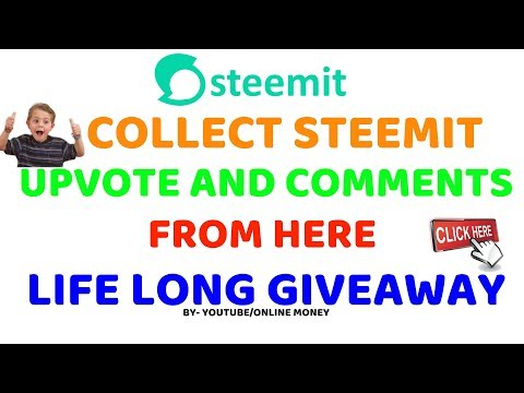 Collect steemit votes and comments from here || life long Giveaway