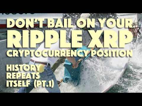 DON'T Bail On Your Ripple XRP Cryptocurrency Position! History Repeats Itself (PT. 1)
