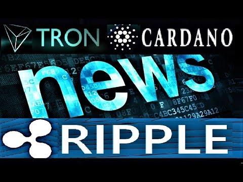 CREPTO NEWS: RIPPLE(XRP), CARDANO(ADA), TRON(TRX)