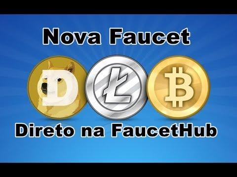 Nova Faucet 3 em 1 Btc , Ltc e Doge direto na FaucetHub