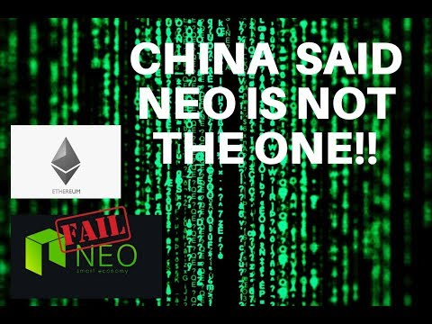CHINA REJECTS NEO AND SIDES WITH ETHEREUM?!