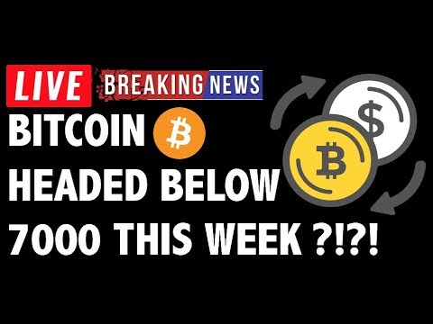 Is Bitcoin (BTC) Headed Below 7000?! – Crypto Trading & Cryptocurrency Price News