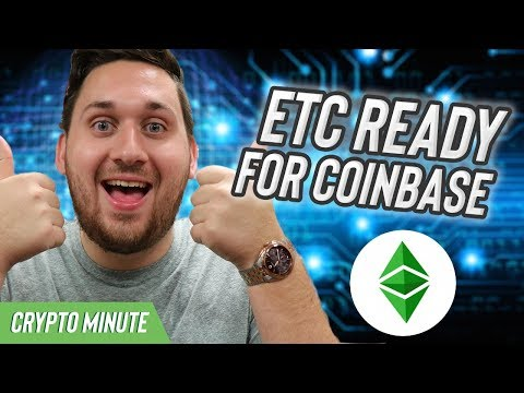 ETC READY FOR COINBASE – Coinbase Listing ETC August 7th – CryptoCurrency News
