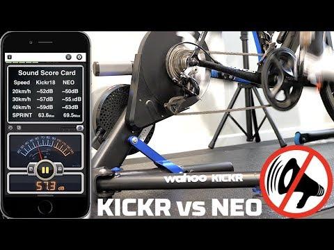 Wahoo KICKR 2018 vs Tacx NEO // Head to Head Sound Check