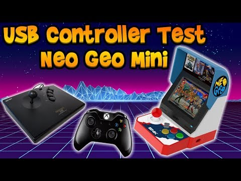 Testing Controllers On The Neo Geo Mini! Do USB Controllers Work?