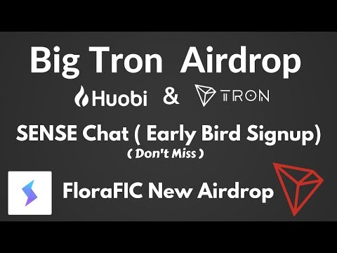 3 Important Airdrop Don't Miss | Free Tron Coin | New Sense Beta Offer & FloraFic Airdrop