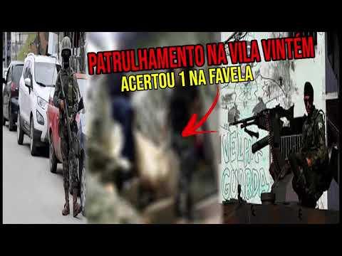 ? TIROTEIO NA VILA VINTEM ADA ACERTA 1 EM CONFRONTO COM MILITARES