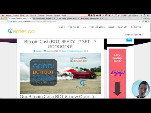 Icenter lanza nuevo bot de Bitcoin Cash, obtén hoy 3% de tu inversión