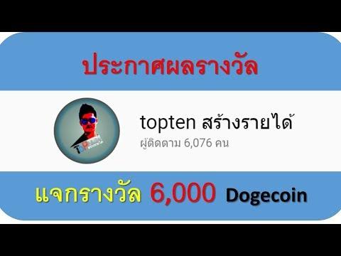 ประกาศผลรางวัล 6000 Dogecoin